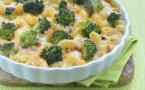 Gratin de pâtes aux lardons et brocolis