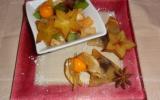 Salade de fruits et samossas