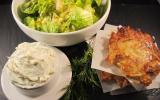 Galettes de pommes de terre et fromage frais à l'aneth