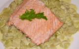 Filet de saumon à la vapeur de fenouil