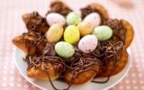 Nid de Pâques aux Madeleines et son coeur de mousse au chocolat