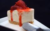 Cheesecake original au chocolat blanc et aux fraises