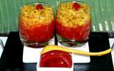 Purée de poivron et son risotto