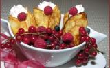 Crêpes aux fruits rouges et à la chantilly