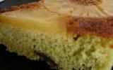 Gâteau renversé à l'ananas, au thé vert et aux pépites de chocolat