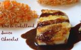 Dos de cabillaud sauce chocolatée épicée