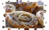 Spirales au roquefort et éclats noix