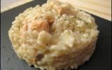 Risotto au saumon frais