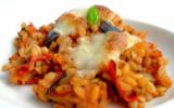 Gratin d'Ebly aux tomates, aubergines & mozzarella