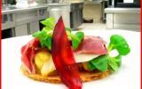 Tarte fine aux légumes rôtis, parmesan et jambon