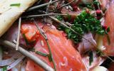 Cipaille au saumon pommes de terre fenouil et oignons