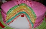 Gâteau arc-en-ciel maison