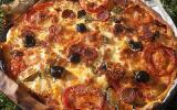 Pizza aux légumes et chorizo