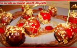 Cerises enrobées au chocolat pimenté d'Espelette