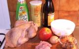 Pintade farcie cuite au cidre avec ses pommes fruit