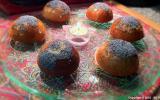 Cakes au thé sencha, cranberries et oranges confites