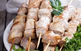 Brochettes de porc marinées au Yuzu