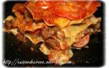 Lasagnes aux aubergines et jambon cru