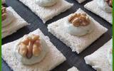 Canapés au roquefort et aux noix