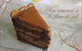 Charlotte au chocolat, spéculoos et caramel à la fleur de sel