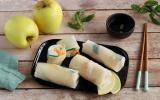 Rouleaux de printemps aux Pommes du Limousin AOP et crevettes