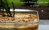 Gratin de courge butternut & patate douce aux noisettes