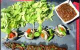 Filets de sardine farcis au basilic et au tomate confite