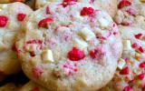 Cookies pépites de chocolat blanc et pralines roses