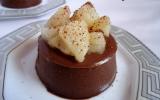 Panna cotta au chocolat et aux poires