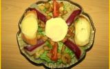 Salade au magret de canard et chèvre chaud