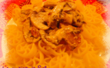 Pasta chorizo, mascarpone, champignons