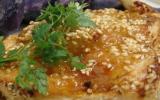 Filet de Pintade fermière des Landes grillé aux graines de sésame aux pommes vitelotte