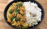 Curry végétarien à la butternut et aux pois chiches