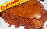 Brownies au chocolat et caramel