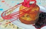 Cheesecake  foie gras - ail crémeux  à  la Tomme des Pyrénées, compotée de guignes au Floc rouge