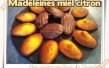 Madeleines miel citron