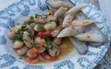 Salade de haricot de Soissons et couteaux