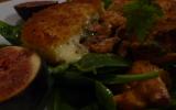 Croccante de Saint Marcellin et salade d'automne