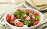 Salade de Caprice des Dieux et tomates