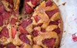 Gâteau aux fraises simple et rapide