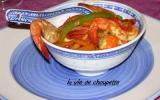 Crevettes marinées aux poivrons et carottes