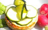 Tartines - cheesecakes aux Carrés frais, feta et courgette