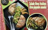 Pastilla de canard aux fèves fraiches et salade de fèves