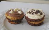 Cupcake napolitain et son négatif