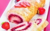 Gâteau roulé à la confiture de Fraises Bonne Maman