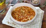Soupe de pois chiches et pâtes (pasta e ceci)