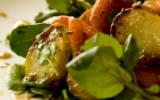 Salade de pommes de terre et carottes rôties