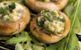 Champignons farcis au beurre d'escargot
