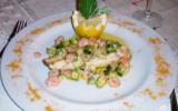 Filets de bar aux crevettes et courgettes .....