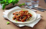 Penne Rigate Integrale blé complet sauce Basilico et aux légumes grillés